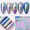 10pcs/Set Nail Foil Stickers Color Nail Art Transfer Decals Mirror Laser Effect