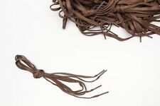 """Brown Shoelaces One Pair 38"""" Casual Dress Boot 1/4"""" Flat Woven New Shoe Laces"""