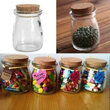 Mini Small Clear Glass Storage Bottle Jars Vial Container With Cork Stopper