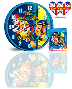 Paw Patrol Wall Clock, Children's Wall Clock, Officially Licensed,