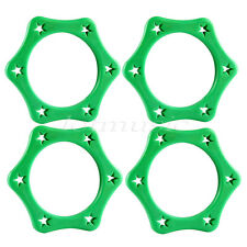 4 Pcs Microphone Anti-rolling Protection Ring Wireless Mic Shakeproof Green
