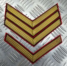 More details for genuine vintage british military issue gold wire embroidered rank chevrons