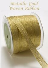 Sparkly gold metallic Lame Christmas ribbon 15 mm Gift wrapping Bow Christmas