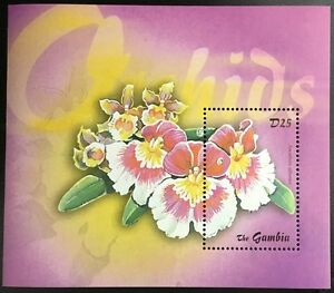 A112 GAMBIA 2003 Flowers, Orchids S/S Souvenir Sheet #2 Mint NH