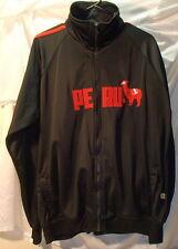 Peru Black/Red Track Jacket Mens Size XL