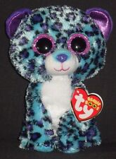 """TY BEANIE BOOS - LIZZIE the 6"""" LEOPARD - CLAIRE'S EXCLUSIVE - MINT with MINT TAG"""
