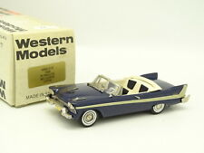 Western Models 1/43 - Plymouth Belvedere Bleue 1958