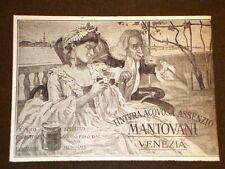 Pubblicità d'Epoca per Collezionisti del 1906 Tintura acquosa Assenzio Mantovani