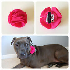 Hot Pink Ruffle Collar Flower for Dogs -New- FREE SHIPPING