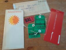 Vintage NATIONAL AIRLINES tickets - Defunct airline covers, tickets, claim check