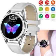 Women Luxury Bluetooth Smart Watch Phone Heart Rate for iPhone Samsung Huawei LG