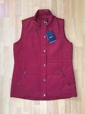 BNWT Ladies Dash dark red padded body warmer/gilet/waist jacket -size 10,Euro 38