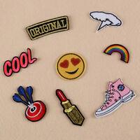 Cn _ Fm- 8pcs Broderie Rainbow Coudre Patch Thermocollant Badge Sac Hat Jeans