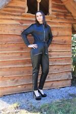 Lederoverall Leder Catsuit Overall Schwarz  Größe M 40 Jumpsuit Lamm-Nappa 417