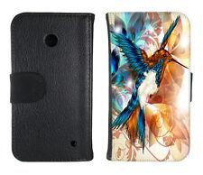 Book Tasche für Handy Design Schutz Hülle Case Cover Bumper Etui Motiv Kolibri