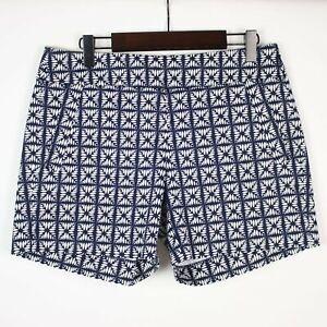 NEW J.CREW City Fit Pattern Stretch Shorts 0