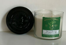 BATH & BODY WORKS 3-WICK CANDLE AROMATHERAPY STRESS RELIEF -EUCALYPTUS SPEARMINT