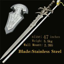 """WOW Lich King Arthas Frostmourne sword Metal Stainless 47""""long"""