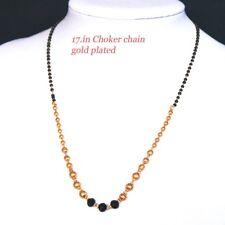 Silver Gold Plated  Beaded Chain Choker Necklace Heart Pendant  kapa Uk