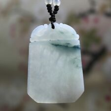 Certified Natural (Grade A) Icy Translucent Jadeite JADE Safety Dragon Pendant