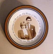 Prince Charles and Lady Diana Commemorative Wedding Plate, Hornsea Pottery, 8""