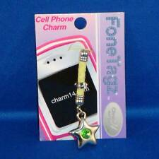 Fone Tagz - Cell Phone Charm - Star Green Swarovski - NEW