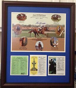 Secretariat 40th Anniversary Triple Crown Commemorative Framed Signed
