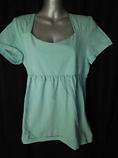 BNWT Womens Sz 12 to 14 Bella B Wear Mint Square Neckline Short Sleeve Top