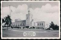 HARRISBURG PA Zembo Mosque Vintage 1948 B&W Postcard Early Old Pennsylvania PC