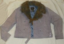 Womens Juniors OUTBROOK Leather JACKET Size S Small Lavender Purple