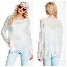 Wildfox Couture Santa Barbara Clean White Lennon Sweater ~ Small NWT $297