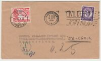 GB 1958 Postage Due Cover Manchester to Switzerland (Manchester Taxe Mark MR-4)