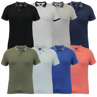 Mens Polo T Shirt Threadbare Pique Top Cotton Short Sleeved Collared Summer New
