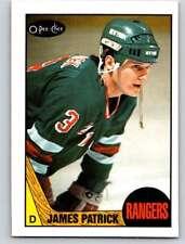 (HCW) 1987-88 O-Pee-Chee #18 James Patrick NY Rangers