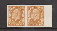 Canada #198a Extra Fine Mint Imperf Pair With No Gum