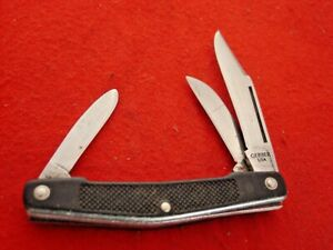 """Gerber USA Made 6608 3 Blade 3-3/8"""" Stockman Stock Knife"""