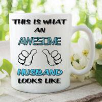 Funny Novelty Coffee Mug Awesome Husband Anniversary Ceramic Cup Gift WSDMUG46