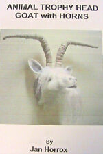 "GOAT with HORNS TROPHY HEAD~JAN HORROX~7"" cloth art doll pattern *RARE & OOP"
