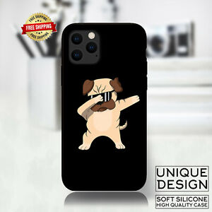 Funny Dabbing Pug, Dab Pug Case Samsung Galaxy S10 S9 Huawei iPhone Case Gift