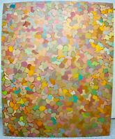 PATRICIA SLOANE 1950s GIANT NY School Abstract Expressionist Geometric Oil 7'x6'