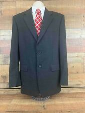 Banana Republic Classic Mens Blazer Gray Wool Blend Two Button Suit Jacket 40L