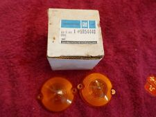 C2 1963-67 CORVETTE NOS AMBER PARKING LIGHT LENSES (2) 5954440