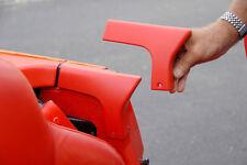 1986-1996 Corvette C4 Convertible Upper Lock Pillar Trim Plates Unpainted 624340