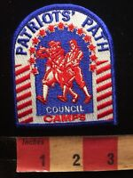 Boy Scouts Patch PATRIOTS PATCH COUNCIL CAMPS 85N4