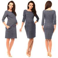 Purpless Maternity Denim Look Pregnancy Tulip Dress Top Tunic with Pockets 6100