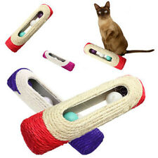 2016 Cat Kitten Kitty Scratcher Scratching Scratch Post Large Tall + Sisal Toy
