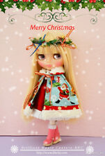 BHC FN693 Retro Christmas Night Dress Set for Kenner Blythe doll outfit