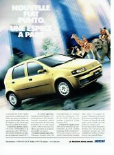 PUBLICITE ADVERTISING 126  1999    la nouvelle Fiat Punto 5 portes