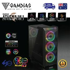 Computer Case Gamdias ATHENA M1 ATX Tower Tempered Glass with 3 x 120mm ARGB Fan