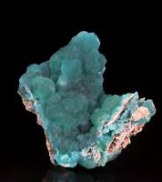 SUPER NICE CUPRIAN SMITHSONITE - KAMAZIRA MINES, LAVRION, GREECE!